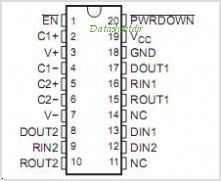 SN75C3222E pinout,Pin out