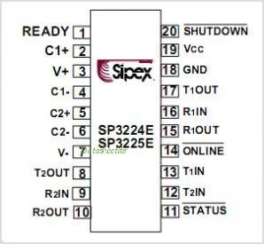 SP3224ECY-L pinout,Pin out