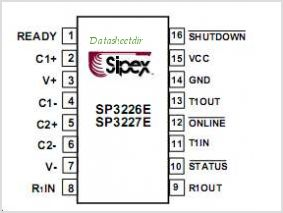 SP3227EEY-L pinout,Pin out