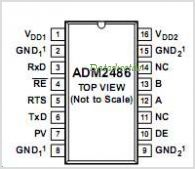 ADM2486 pinout,Pin out