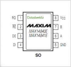 MAX14840E pinout,Pin out