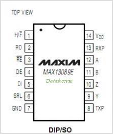 MAX13089E pinout,Pin out