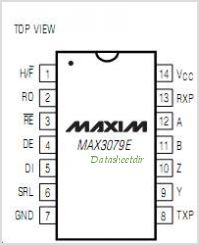 MAX3079E pinout,Pin out