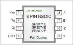 SP3074E pinout,Pin out