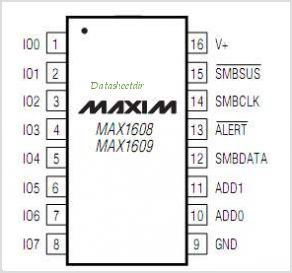 MAX1608 pinout,Pin out