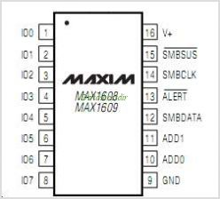 MAX1609 pinout,Pin out