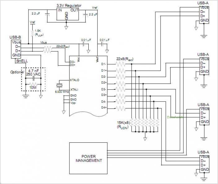 usb hub schematic diagram  usb  free engine image for user