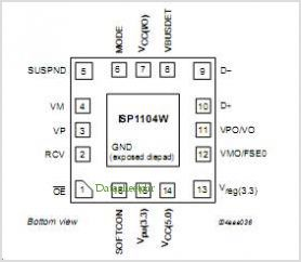 ISP1104 pinout,Pin out
