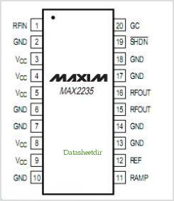 MAX2235 pinout,Pin out