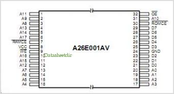 A26E001A pinout,Pin out