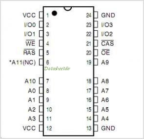 IS41C44052 pinout,Pin out