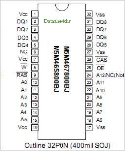 M5M467400BJ pinout,Pin out