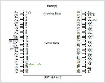 MBM29LV160T pinout,Pin out