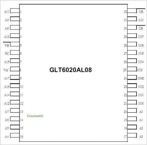 GLT6020AL08 pinout,Pin out
