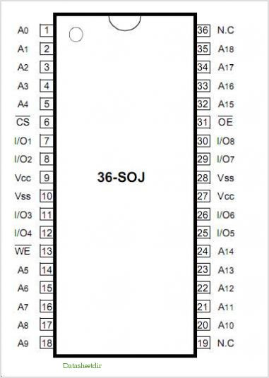 K6R4008C1C-E pinout,Pin out