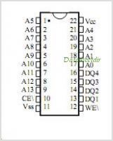 MT5C6804C-20-883C pinout,Pin out