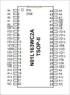 N01L163WC2A pinout,Pin out