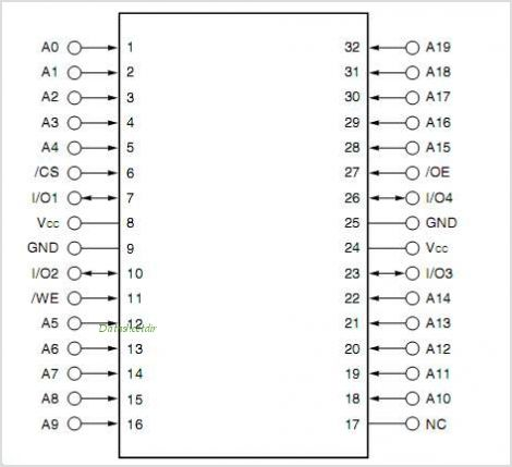 UPD444004 pinout,Pin out