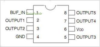 IDT2305NZ-1H pinout,Pin out