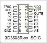 3D3612W-10 pinout,Pin out