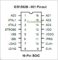 ICS1562B pinout,Pin out