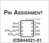 ICS844021-01 pinout,Pin out
