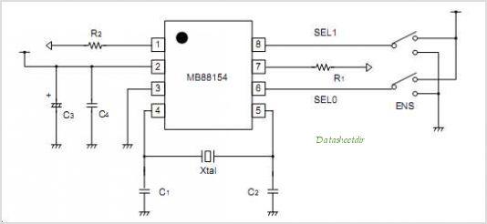 MB88154PNF-G-103-JNE1 circuits