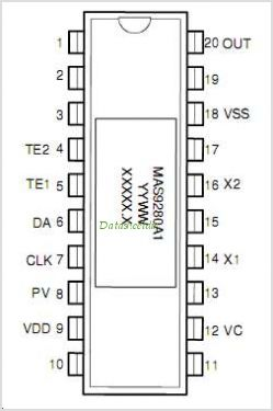 MAS9280A2TG00 pinout,Pin out