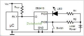 DS2413 circuits