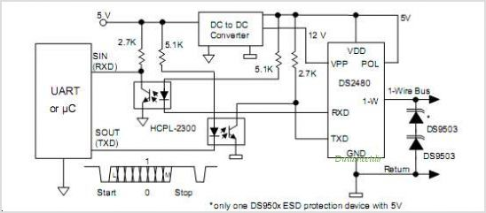 DS2480B circuits