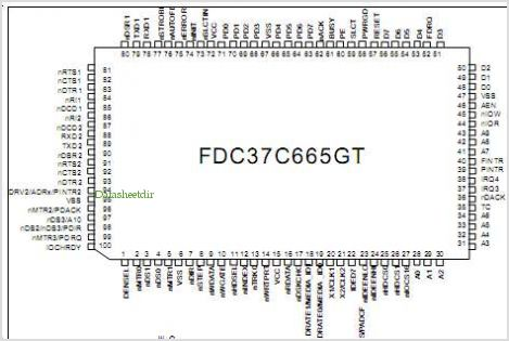 FDC37C665GT pinout,Pin out