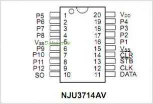 NJU3714A pinout,Pin out