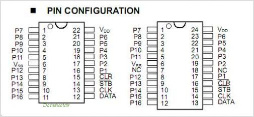 NJU3715 pinout,Pin out