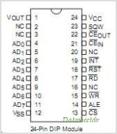 BQ4287 pinout,Pin out