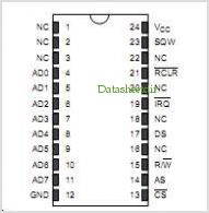 DS12B887 pinout,Pin out