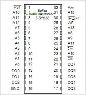 DS1556 pinout,Pin out