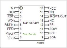 M41ST84W pinout,Pin out