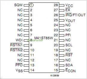 M41ST85W pinout,Pin out