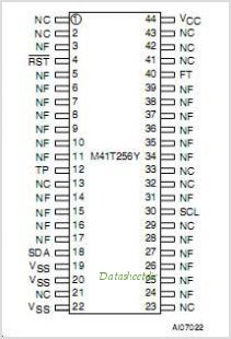 M41T256Y pinout,Pin out