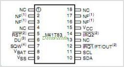 M41T82 pinout,Pin out