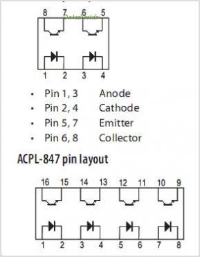 ACPL-827 pinout,Pin out