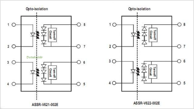 ASSR-V621 pinout,Pin out