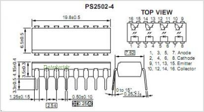 PS2502L-2-E4 pinout,Pin out