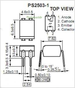PS2503-1 pinout,Pin out
