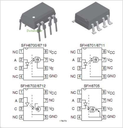 SFH6700 pinout,Pin out