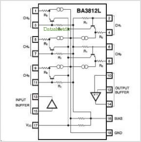 BA3812L pinout,Pin out