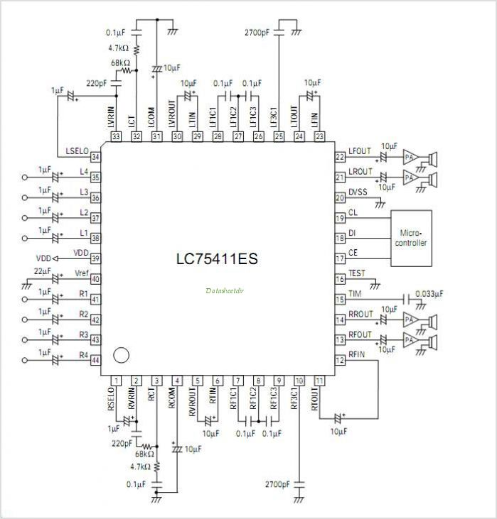 LC75411WS circuits