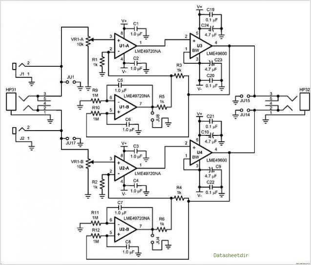 lme49600 simple headamplifier
