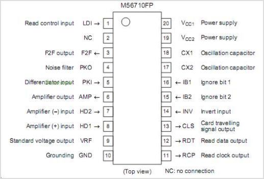 M56710FP pinout,Pin out