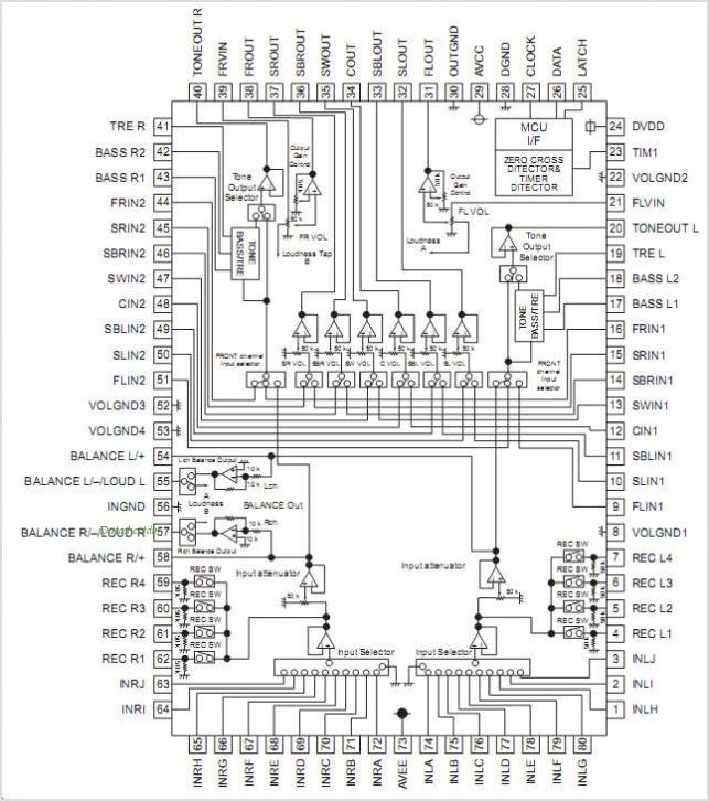 M61516FP pinout,Pin out
